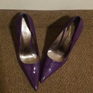 Aldo Purple Patent Leather Pumps Size 37